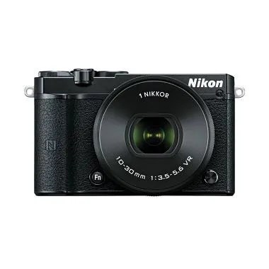 Nikon 1 J5 Kit 10-30mm Kamera Mirrorless - Hitam Free Memori 16GB