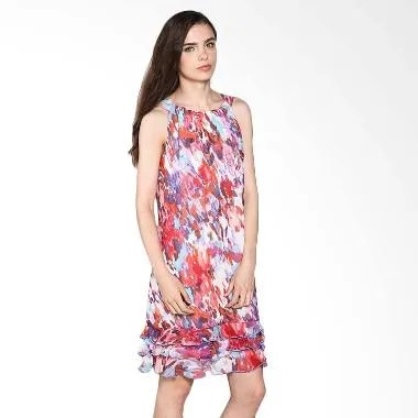 Nulu Jocelyn NL 3487 Dress Wanita - Multicolor Print
