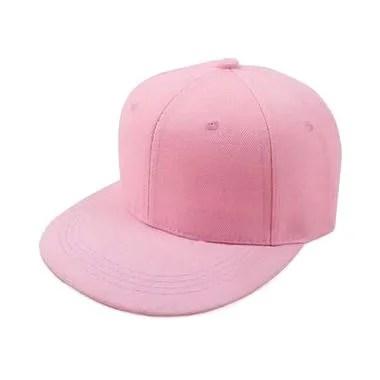 Ormano Baseball Snapback Korea Style PLS Topi - Pink
