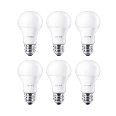 Philips LED Putih Lampu Bohlam [13 W-100 W/6 Pcs]