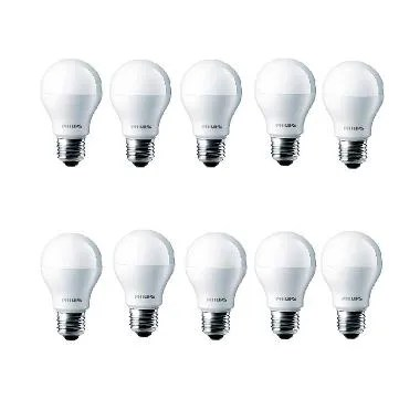 Philips LED Putih Lampu Bohlam [4 W-40 W/10 Pcs]