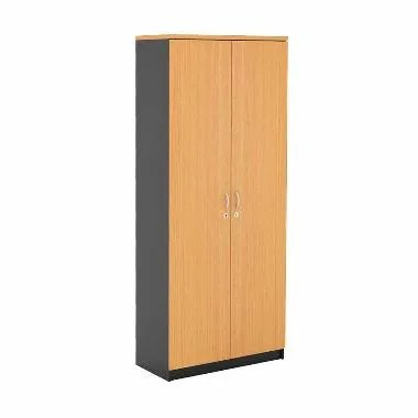 Prissilia Mortred Bookcase with Bigdoor Rak Buku - Beech