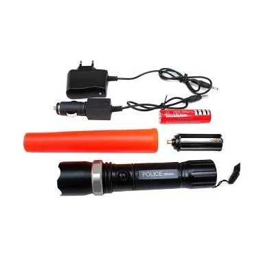 Swat Flashlight Multifungsi Police Senter [Rechargeable]