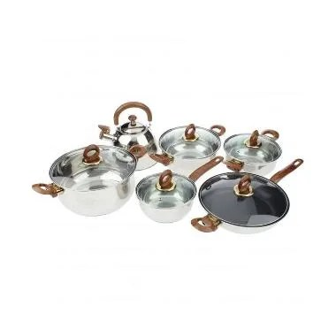 Vicenza Cookware V812 Set Panci - Silver [12 pcs]