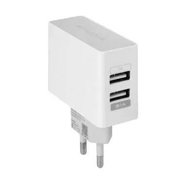 Wellcomm Dual USB Travel Charger - White [2.1A]