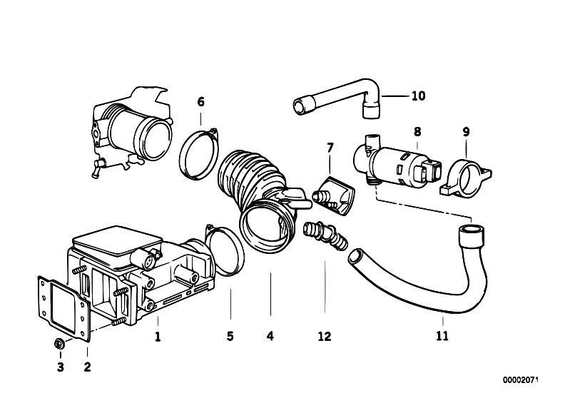 Original Parts for E34 518i M40 Touring / Fuel Preparation