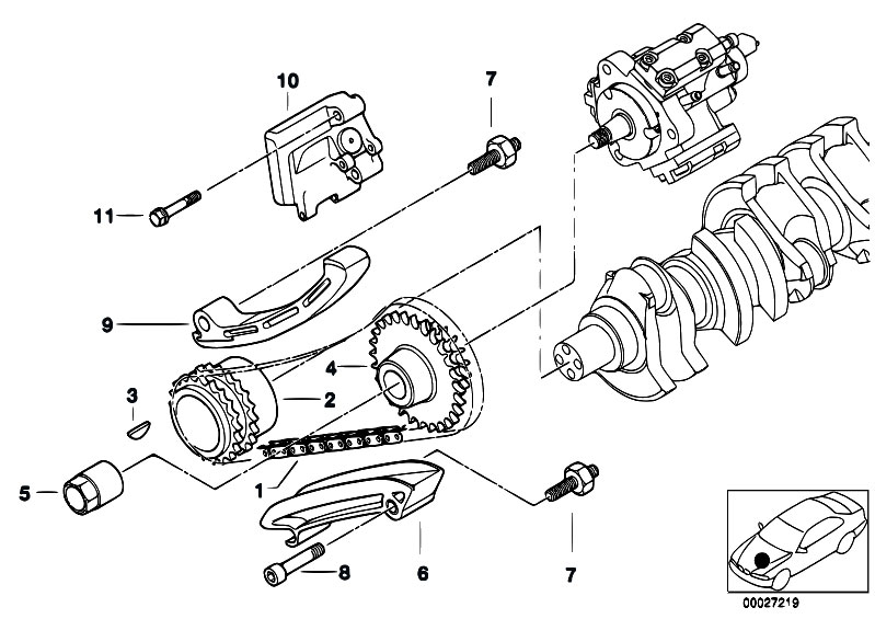 Original Parts for E46 330d M57 Touring / Engine/ Timing