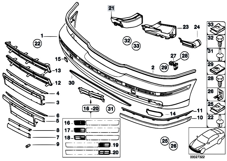 Original Parts for E39 525tds M51 Sedan / Vehicle Trim
