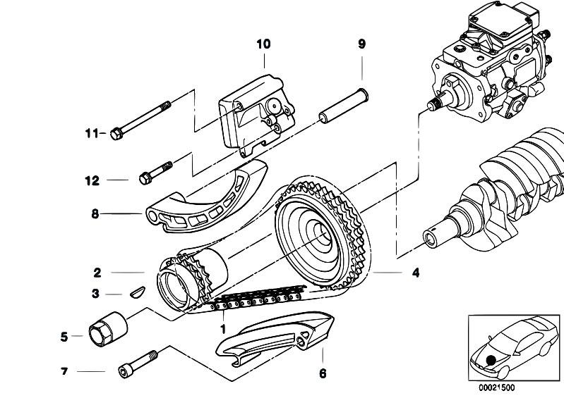 Original Parts for E39 520d M47 Touring / Engine/ Timing