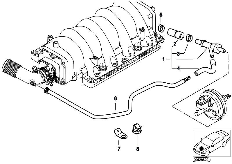 Original Parts for E53 X5 4.6is M62 SAV / Engine/ Vacuum