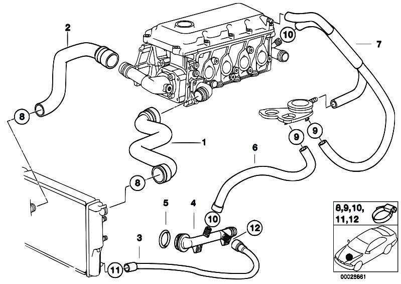 Original Parts for E36 316i 1.9 M43 Compact / Engine