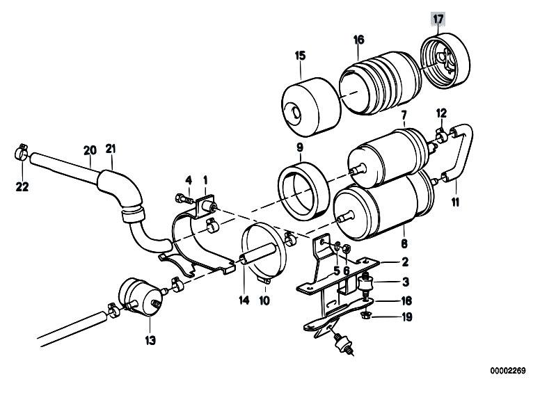 Original Parts for E30 M3 S14 Cabrio / Fuel Supply/ Fuel