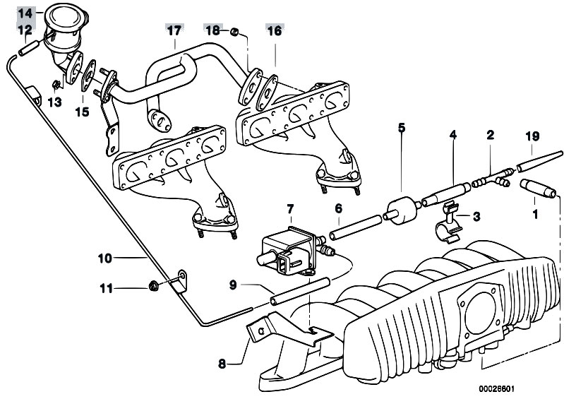 Original Parts for E36 323ti M52 Compact / Engine/ Air