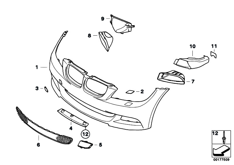Original Parts for E90 330d M57N2 Sedan / Vehicle Trim