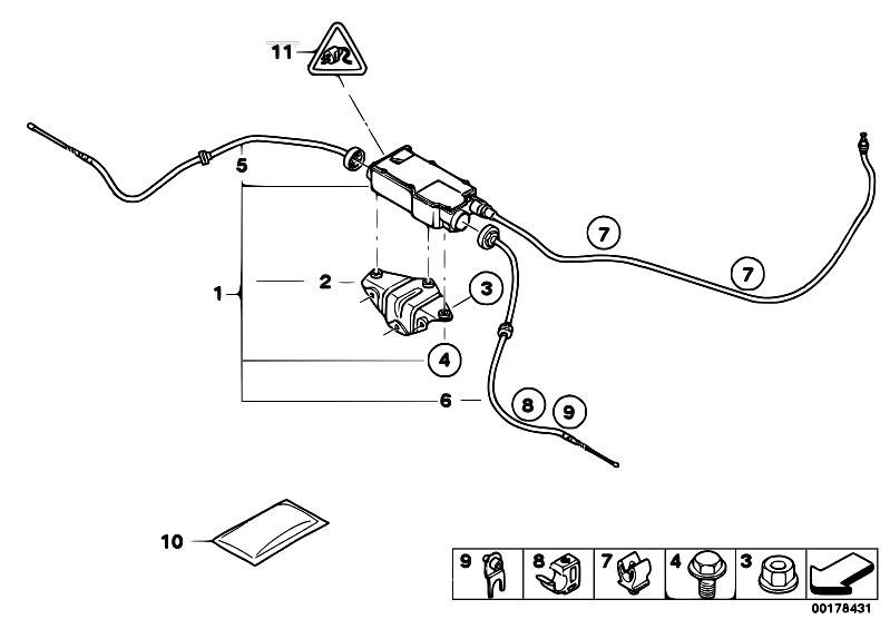 Original Parts for E70 X5 4.8i N62N SAV / Brakes/ Parking