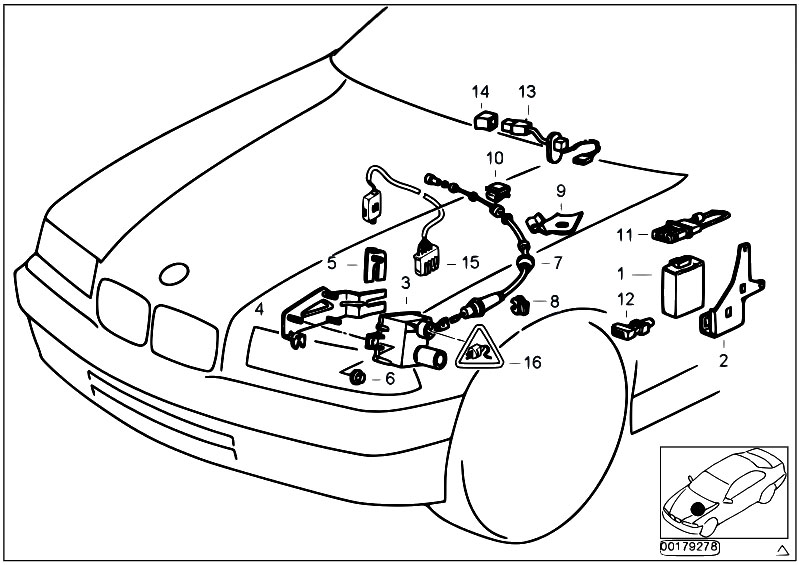 Original Parts for E36 316i 1.9 M43 Compact / Distance