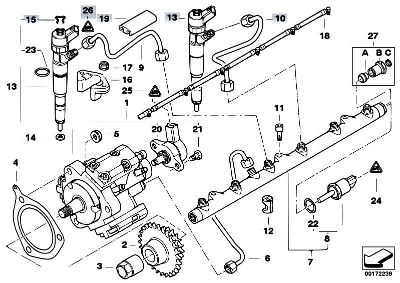 Original Parts for E46 330xd M57 Touring / Fuel