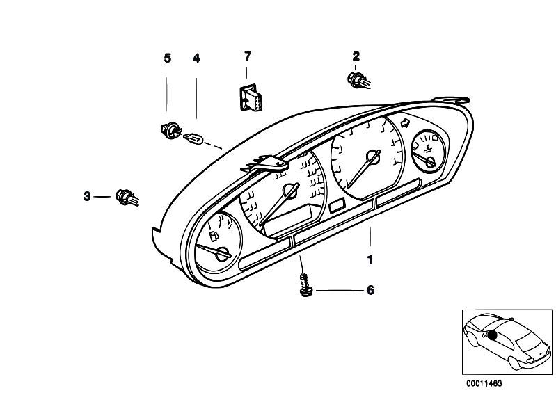Original Parts for E36 318ti M42 Compact / Instruments