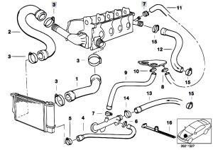 Original Parts for E36 316i M43 Sedan  Engine Cooling