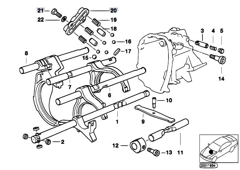 Original Parts for E34 518i M40 Sedan / Manual