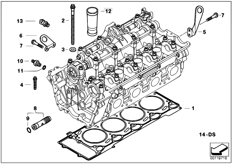 Original Parts for E70 X5 4.8i N62N SAV / Engine/ Cylinder