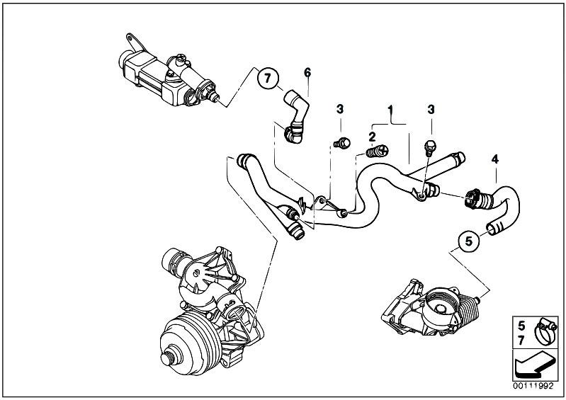 Original Parts for E60 530d M57N Sedan / Engine/ Cooling
