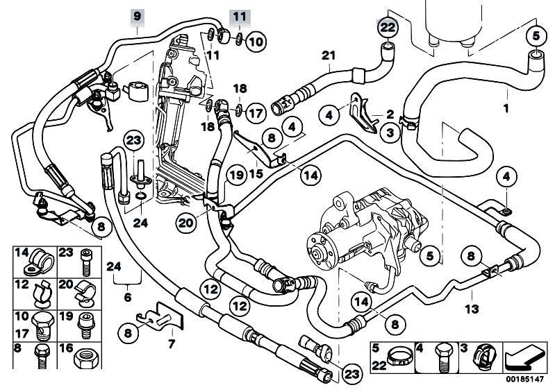 Original Parts for E70 X5 4.8i N62N SAV / Steering/ Hydro