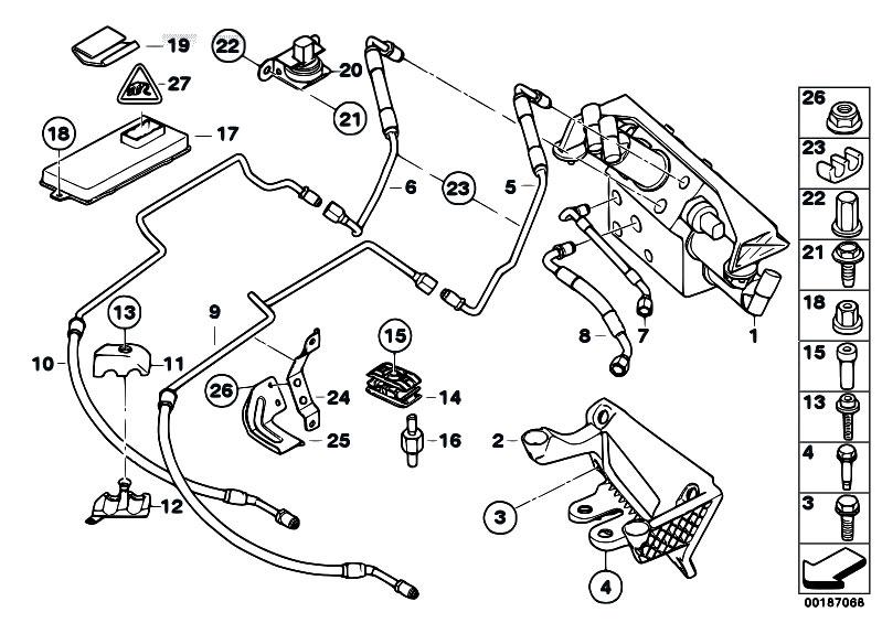 Original Parts for E60 530i N52 Sedan / Front Axle/ Valve
