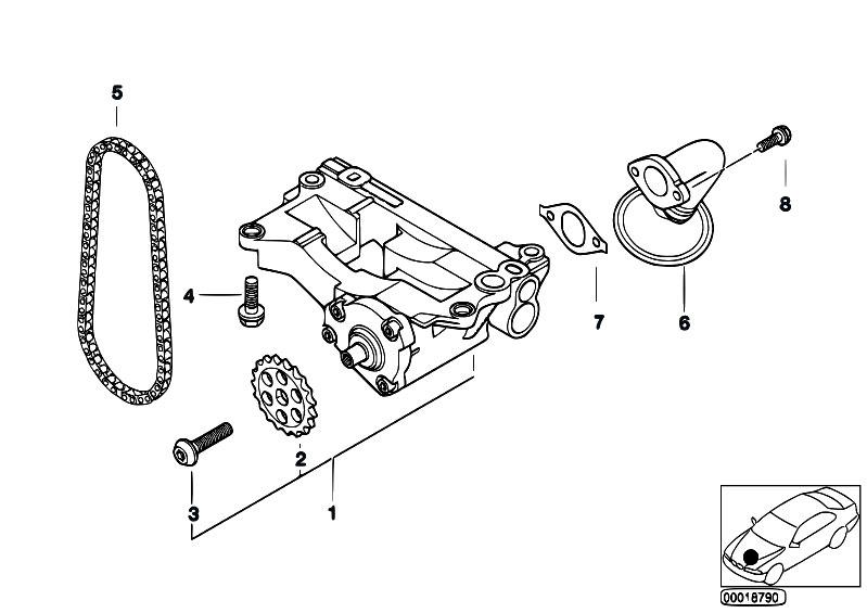 Original Parts for E39 525d M57 Touring / Engine