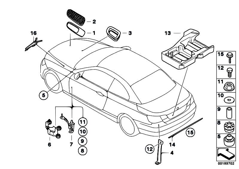 Original Parts for E93 M3 S65 Cabrio / Vehicle Trim