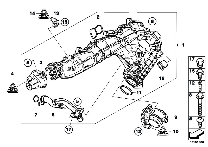Original Parts for E92 330d N57 Coupe / Engine/ Intake