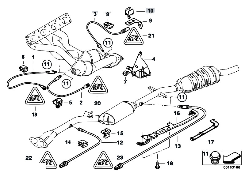 Original Parts for E46 318i N46 Touring / Exhaust System