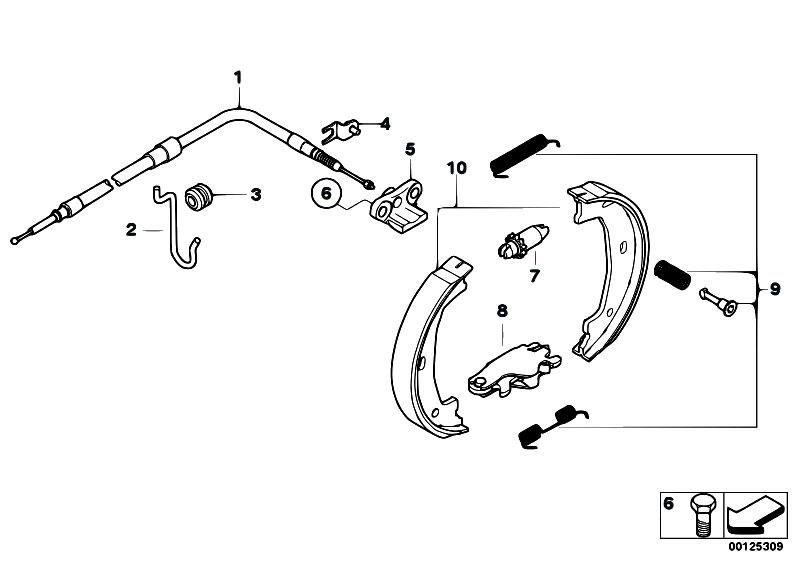 Original Parts for E60 M5 S85 Sedan / Brakes/ Parking