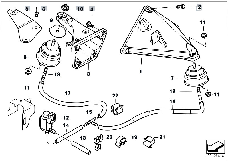 Original Parts for E46 330d M57N Touring / Engine And