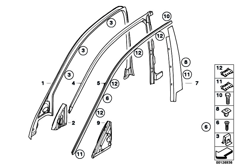 Original Parts for E60 530d M57N Sedan / Vehicle Trim