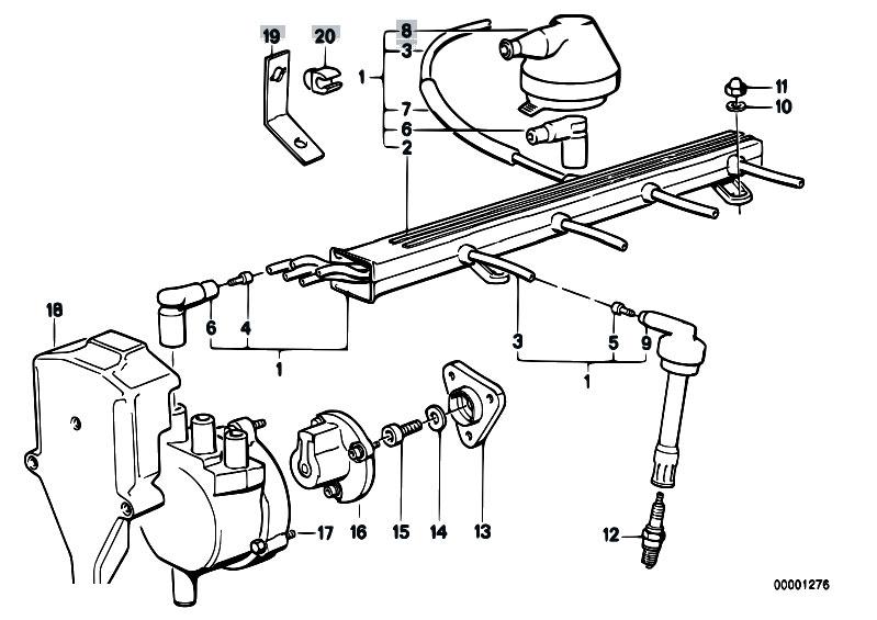 Original Parts for E30 M3 S14 Cabrio / Engine Electrical