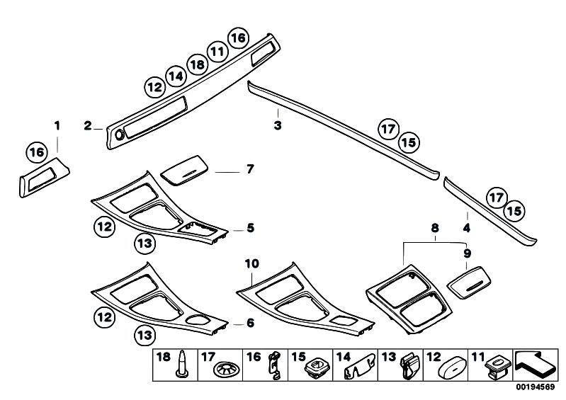 Original Parts for E92 320xd N47 Coupe / Vehicle Trim