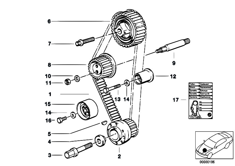 Original Parts for E30 318i M40 2 doors / Engine/ Timing
