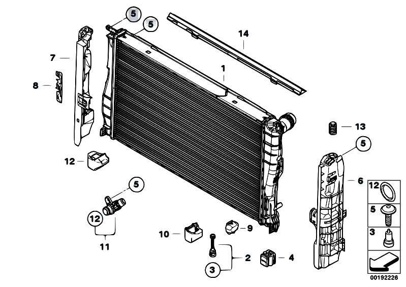 Original Parts for E93 335i N54 Cabrio / Radiator