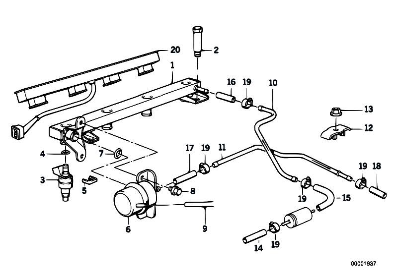 Original Parts for E34 518i M40 Sedan / Fuel Preparation