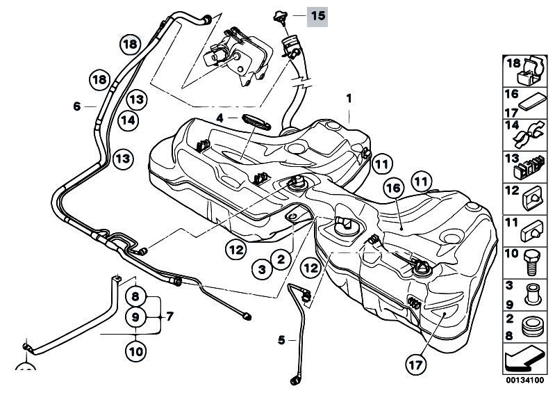 Original Parts for E60 530i N52 Sedan / Fuel Supply/ Fuel
