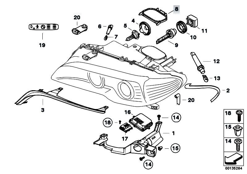 Original Parts for E46 M3 S54 Coupe / Lighting/ Single