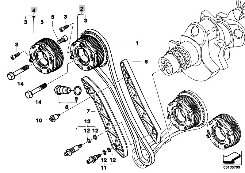 Service manual [1995 Bmw 5 Series Engine Timing Chain