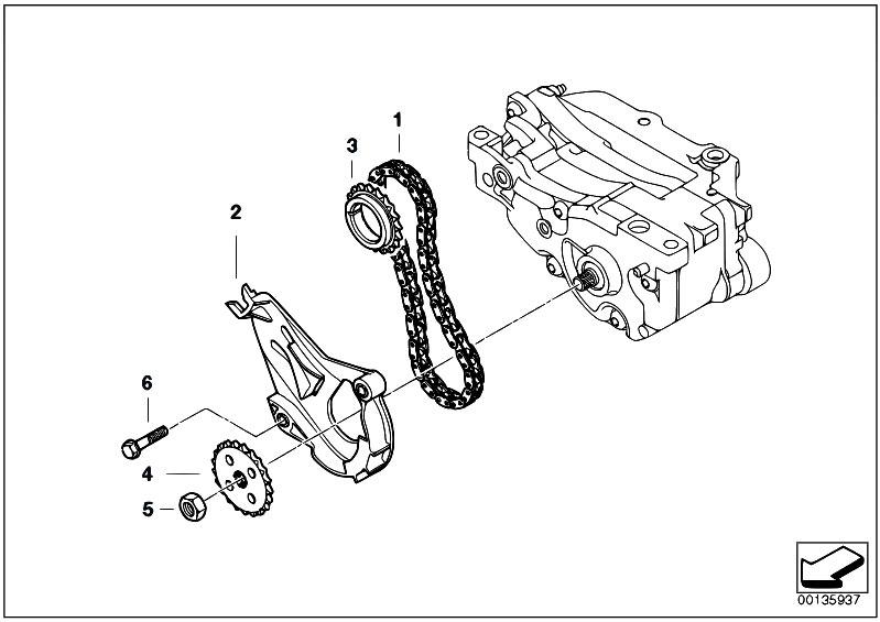 Original Parts for E91N 316i N43 Touring / Engine
