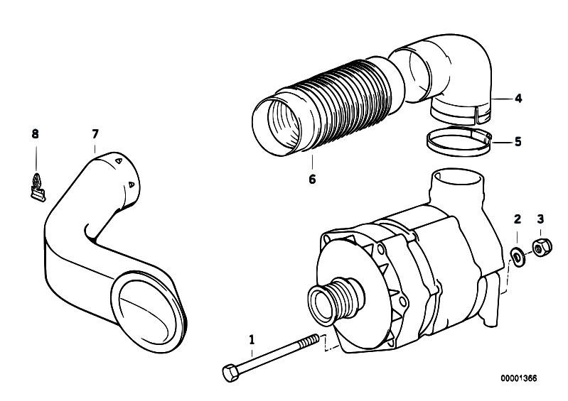 Original Parts for E34 525i M50 Sedan / Engine Electrical