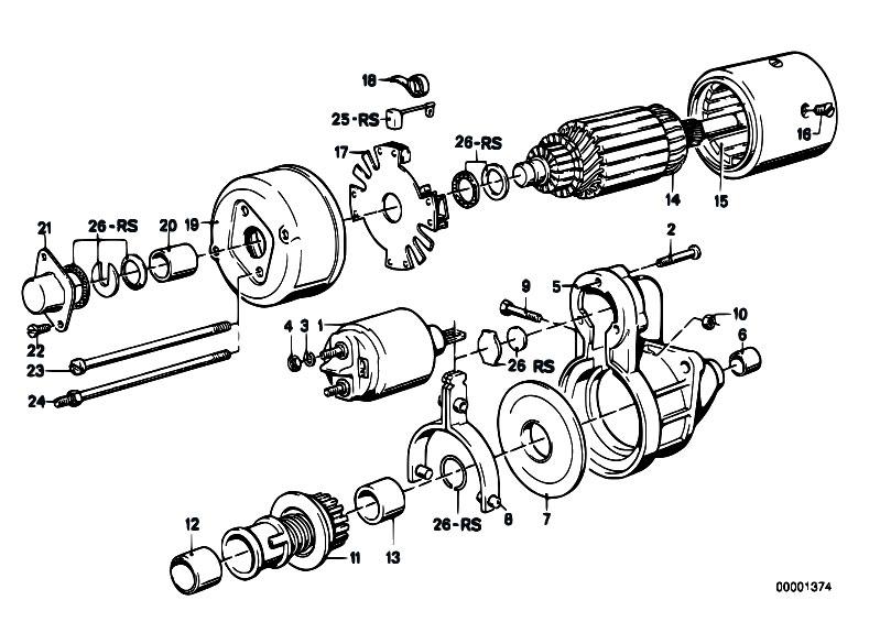 Original Parts for E30 316 M10 2 doors / Engine Electrical