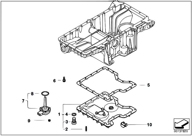 Original Parts for E70 X5 4.8i N62N SAV / Engine/ Oil Pan