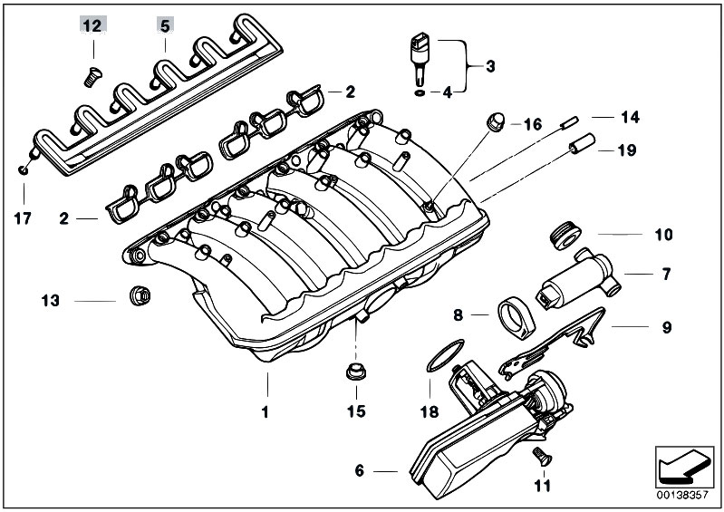 Original Parts for E39 520i M52 Touring / Engine/ Intake