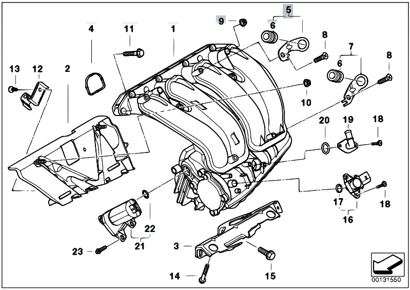 Original Parts for E46 316ti N46 Compact / Engine/ Intake