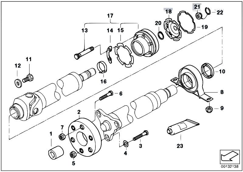 Original Parts for E53 X5 3.0d M57 SAV / Drive Shaft